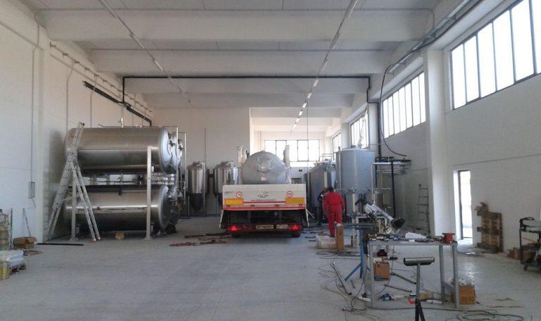 Монтаж пивзавода в Италии