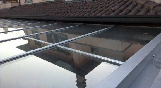 стеклянное покрытие веранды